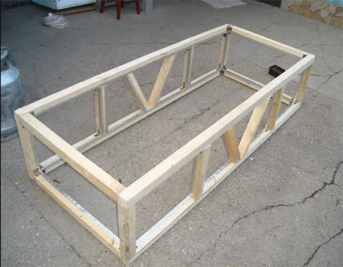 Процесс изготовления домика для кроликов 123