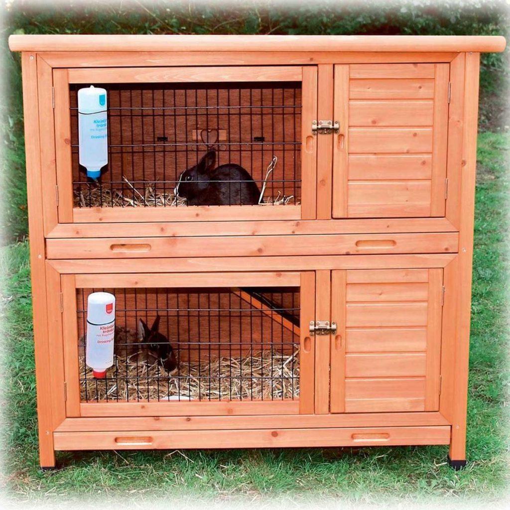 Клетка с загоном для кроликов