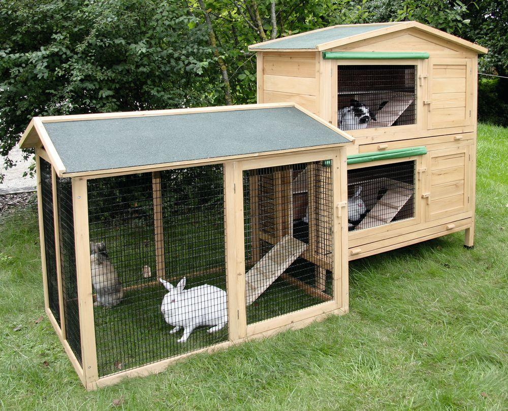 Утепленные вольеры для кролика