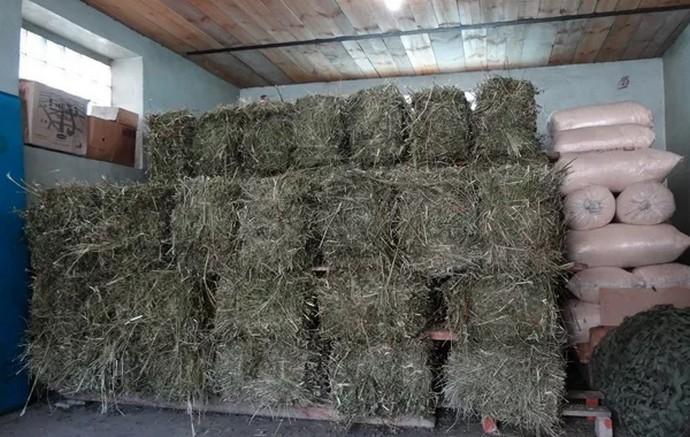 Хранение сена для кроликов