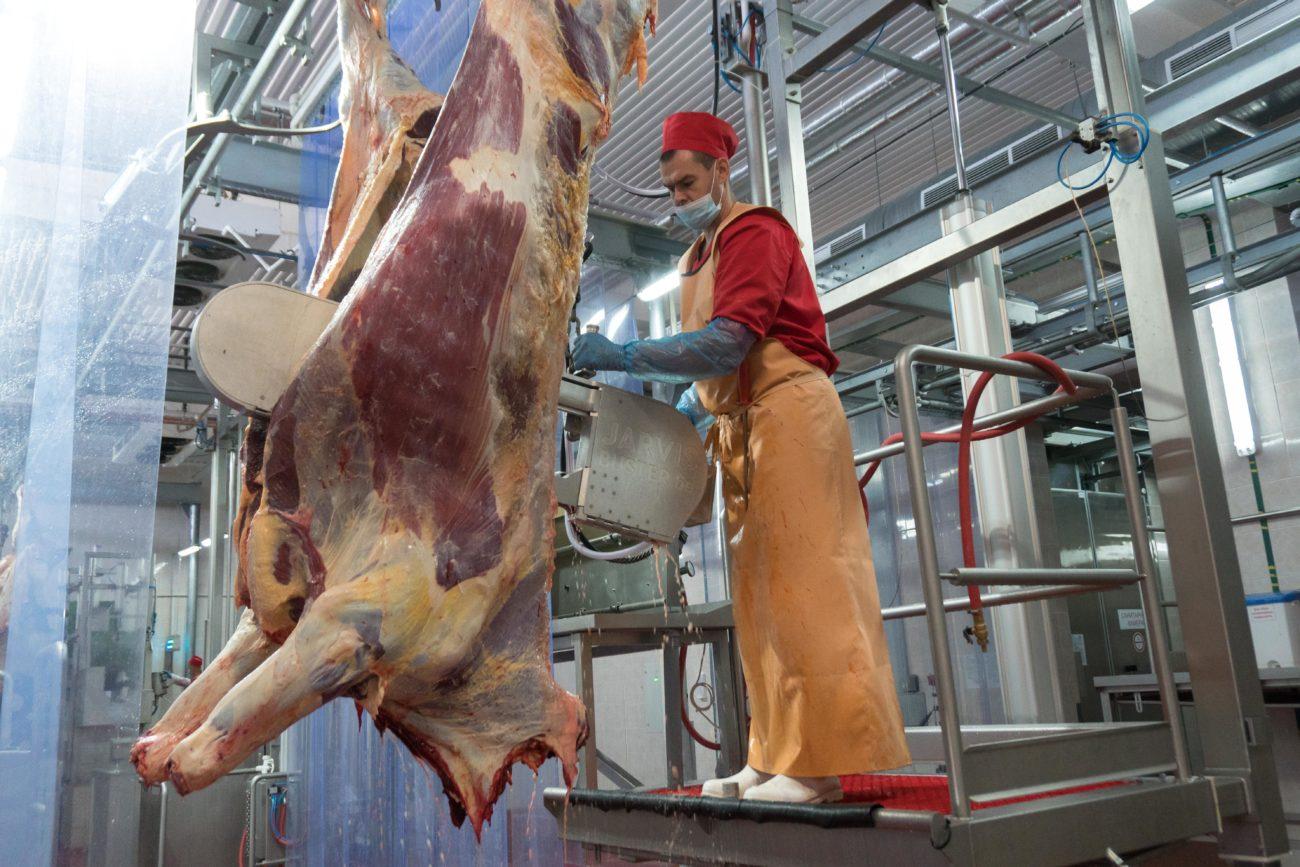 Как режут корову